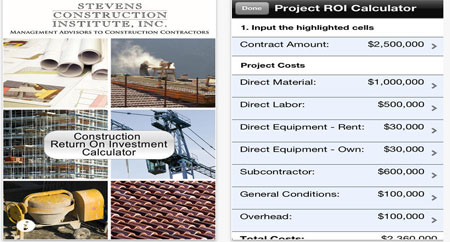 Construction Return on Investment (ROI) Calculator - A Construction App