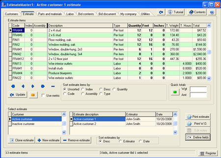 Download Estimate Master Software for FREE